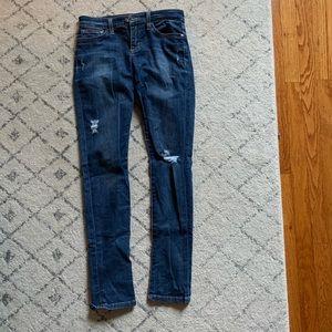 Joe's distressed petite skinny jean mid rise 25